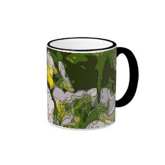White and Gold Daffodil Flowers Ringer Mug