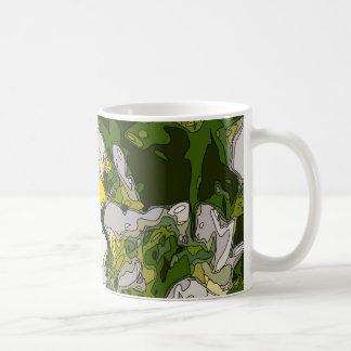 White and Gold Daffodil Flowers Basic White Mug
