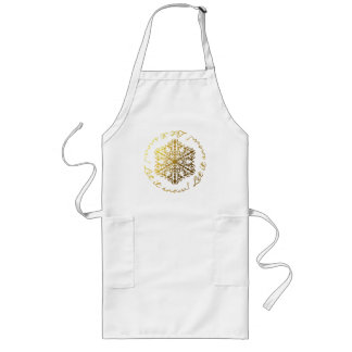 White and Gold Let It Snow Snowflake Apron