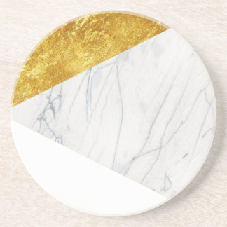 White and Gold Marble Drink Coasters