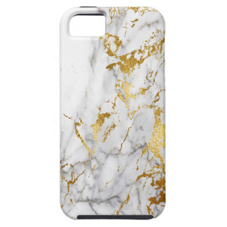 White and Gold Marble Pattern Trending Urban Tough iPhone 5 Case