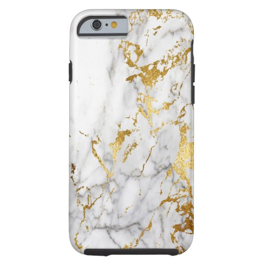 White and Gold Marble Pattern Trending Urban Tough