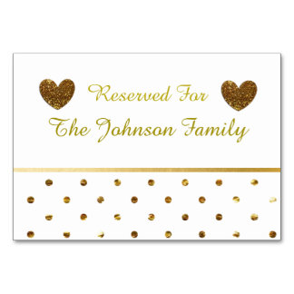 White and Gold Party or Wedding Table Cards