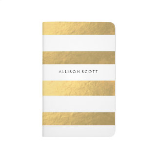 White And Gold Personalized Journal