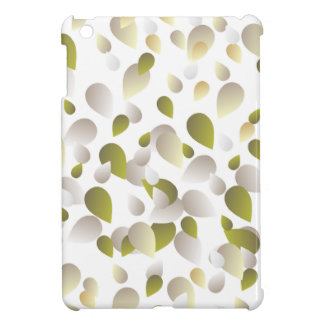 White and Gold Petals Case For The iPad Mini