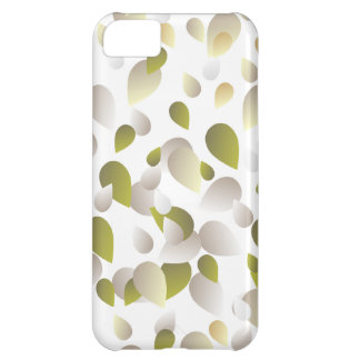 White and Gold Petals iPhone 5C Case