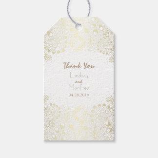 White and Gold Wonderland Garden Wedding Gift Tags