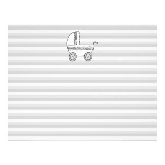 White and Gray Baby Pram Personalized Flyer