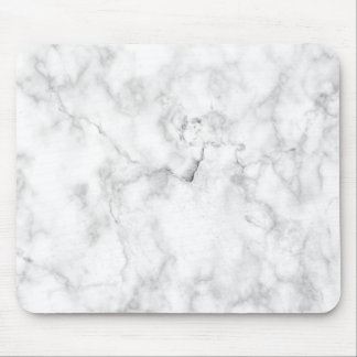 White and gray faux marble texture mouse pad