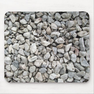White and gray gravel of various shapes and sizes mouse pad