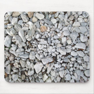 White and gray gravel texture mouse pads