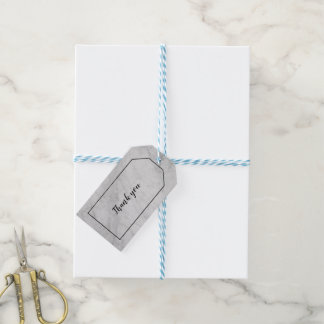 White and Gray Marble Gift Tag