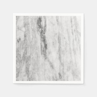 White And Gray Marble Texture Pattern Disposable Napkin