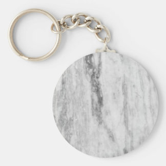 White And Gray Marble Texture Pattern Key Ring