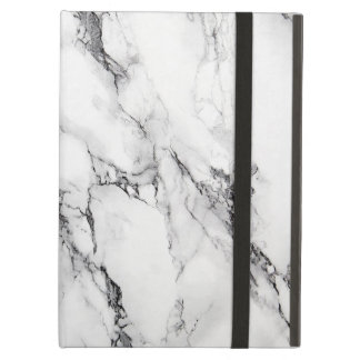 White And Gray Marbled Stone Pattern Case For iPad Air