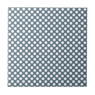 White and Gray Polka Dot Tile