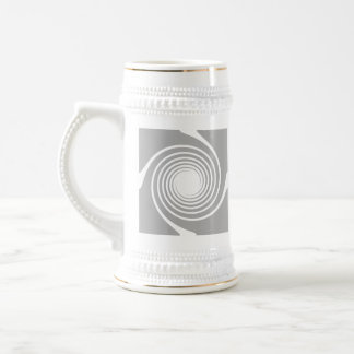 White and gray spiral design. beer stein