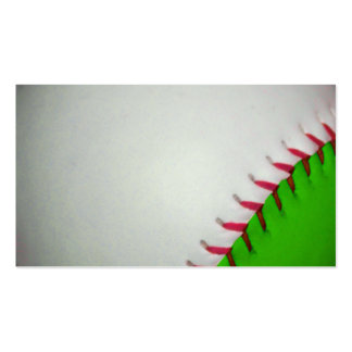 White and Green Baseball Business Card Template