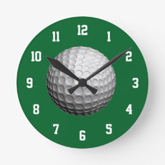 White and Green Golf Clock