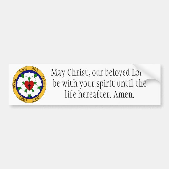 White And Green Luther Rose Bumper Sticker