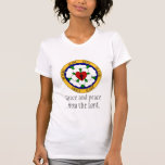 White And Green Luther Rose Tee Shirts