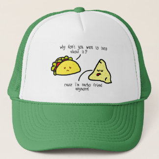 White and Green Taco and Nacho Trucker Hat