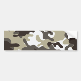 White and Grey Camouflage Bumper Sticker