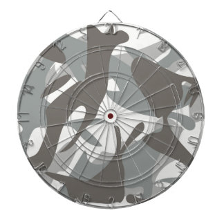 White and Grey Camouflage II Dartboard