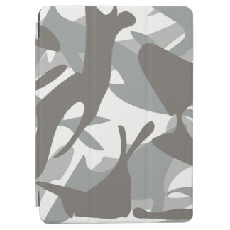 White and Grey Camouflage II iPad Air Cover