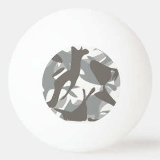 White and Grey Camouflage II Ping Pong Ball