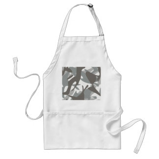 White and Grey Camouflage II Standard Apron