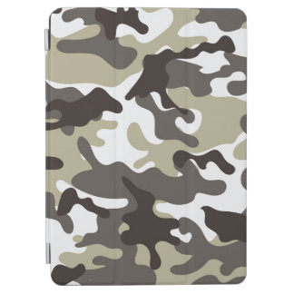 White and Grey Camouflage iPad Air Cover