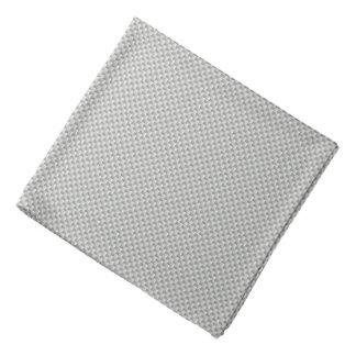 White and Grey Carbon Fiber Graphite Bandana