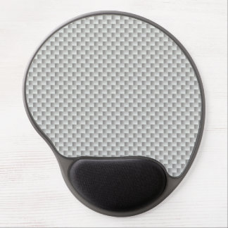 White and Grey Carbon Fiber Graphite Gel Mouse Mat