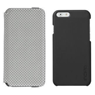 White and Grey Carbon Fibre Graphite Incipio Watson™ iPhone 6 Wallet Case
