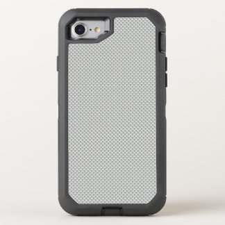 White and Grey Carbon Fibre Polymer OtterBox Defender iPhone 7 Case