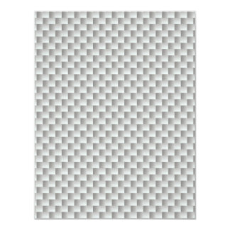 White and Grey Kevlar Carbon Fiber Personalized Invitation Card