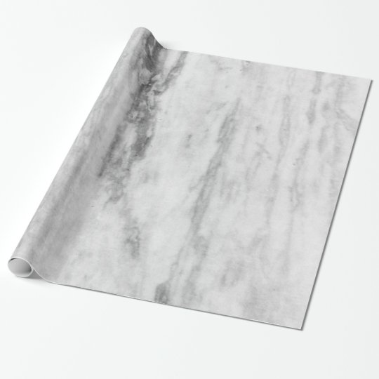 White And Grey Marble Texture Pattern Wrapping Paper