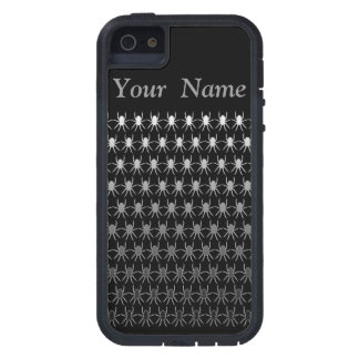 White and grey spiders on black personalised iPhone 5 covers