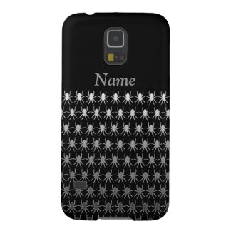 White and grey spiders on black personalised cases for galaxy s5