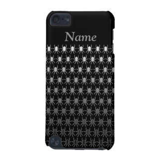 White and grey spiders on black personalised iPod touch 5G covers