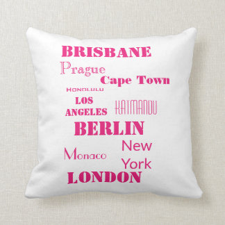White and Hot Pink Personal Cushion