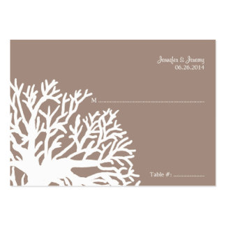 White and Ivory Tropical Fish Seating Card Business Card Templates