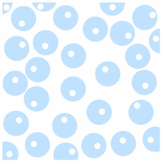 White and light blue retro pattern. photo sculpture magnet