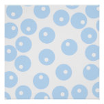White and light blue retro pattern. print