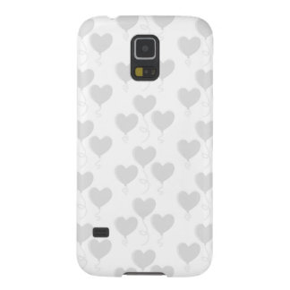 White and Light Gray Heart Balloon Pattern. Cases For Galaxy S5