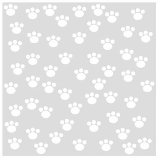 White and Light Gray Paw Print Pattern. Acrylic Cut Out