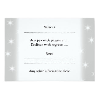 White and Light Gray Star Pattern. 9 Cm X 13 Cm Invitation Card