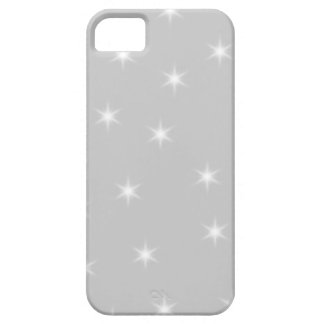 White and Light Gray Star Pattern. Barely There iPhone 5 Case