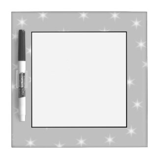 White and Light Gray Star Pattern. Dry Erase Board